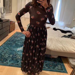 """Ganni floral mesh """"Tilden"""" dress"""